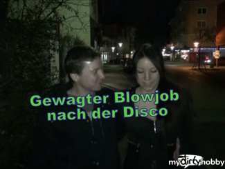 Gewagter Blowjob nach der Disco